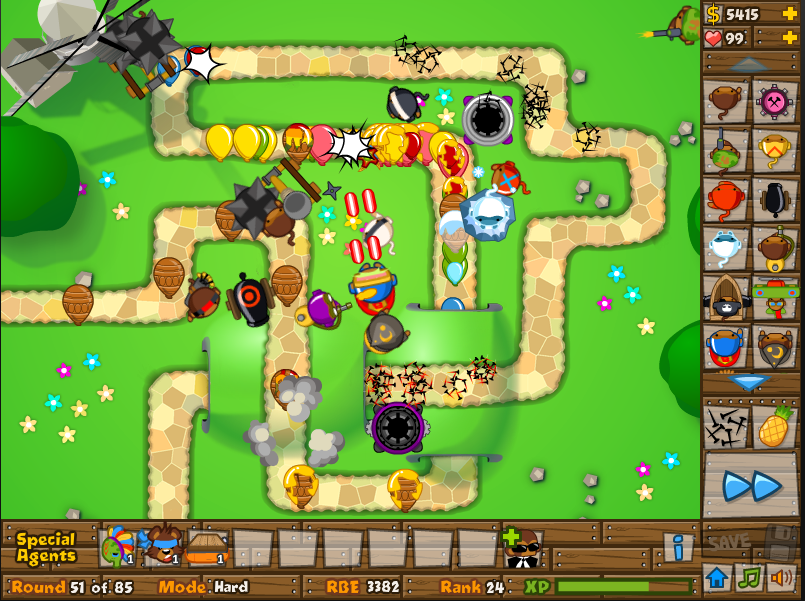 balloon tower defence
